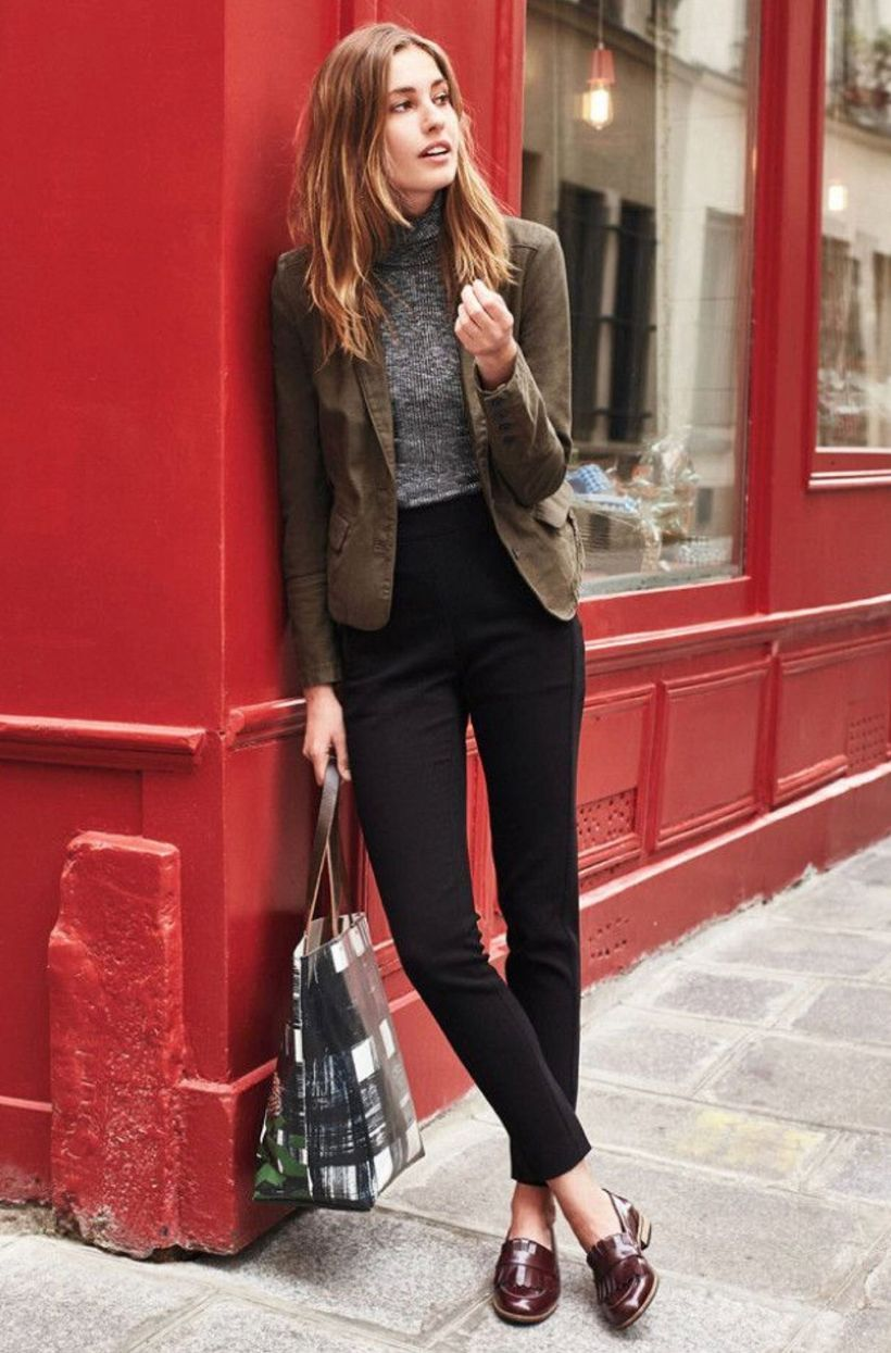 Grey-sweater-and-brown-suit