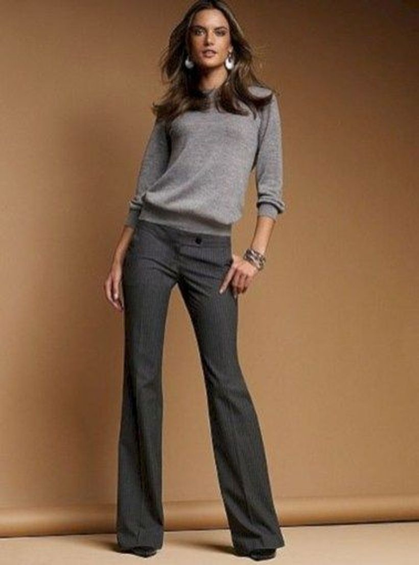 Grey-sweater-and-cutbray-pants
