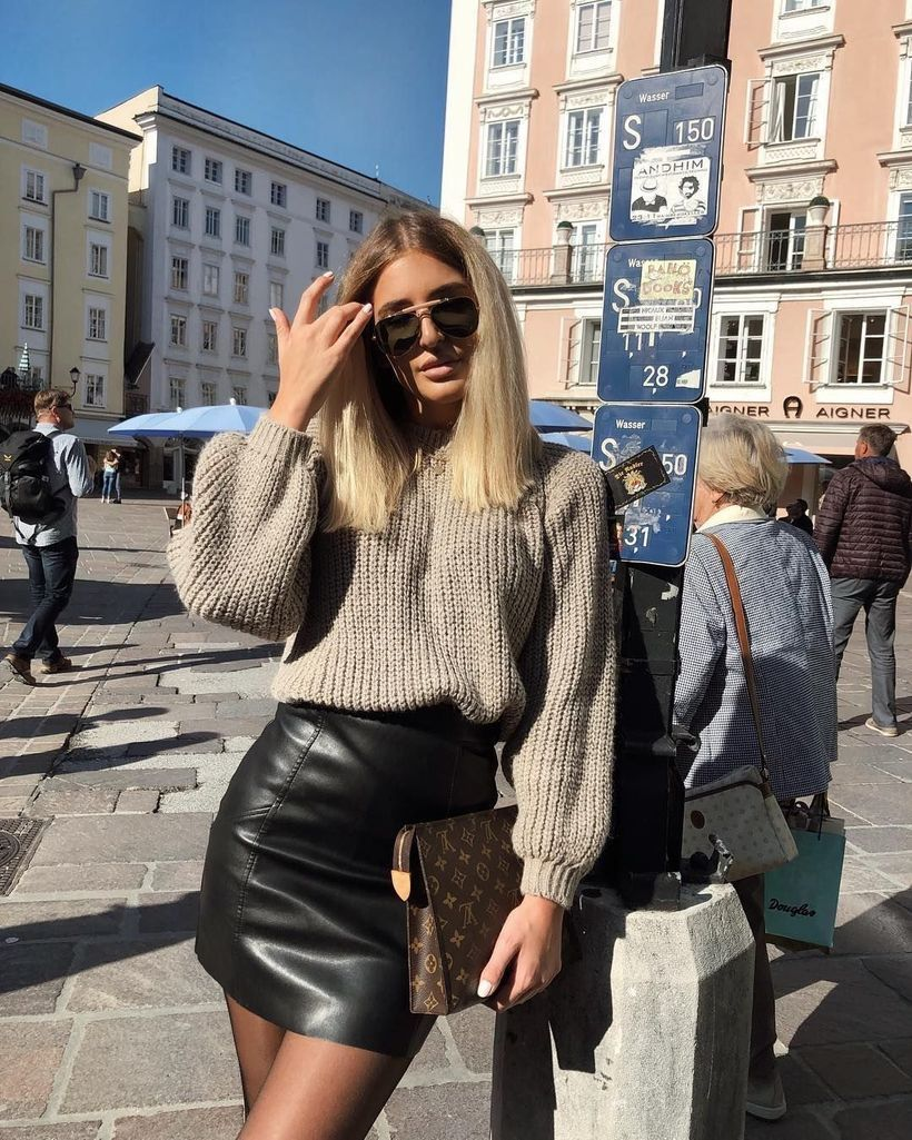 Knit-sweater-thick-and-mini-skirt