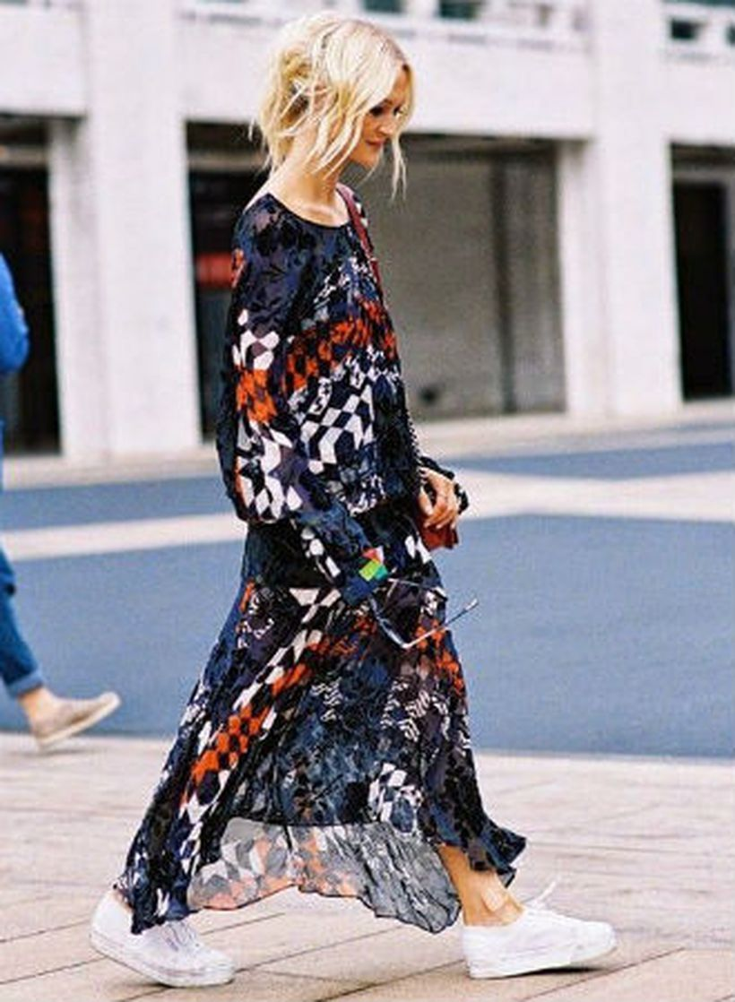 An-impressive-a-long-dress-and-sneakers.-