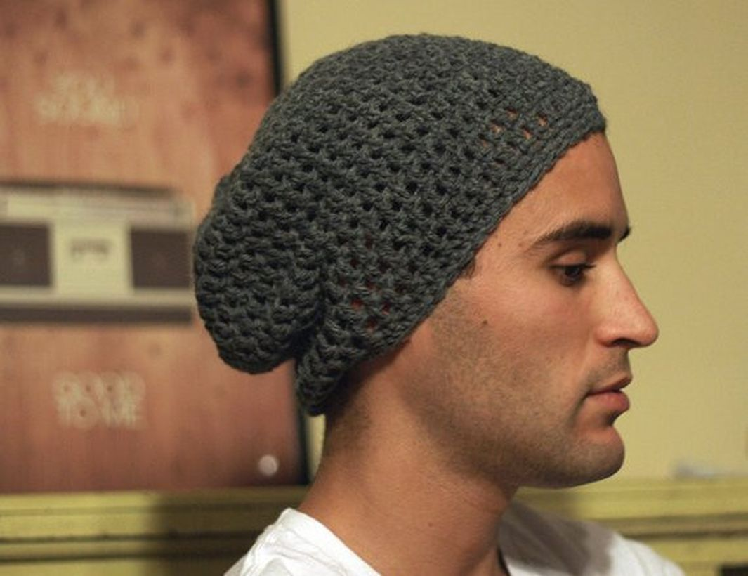 Simple gray knit headger