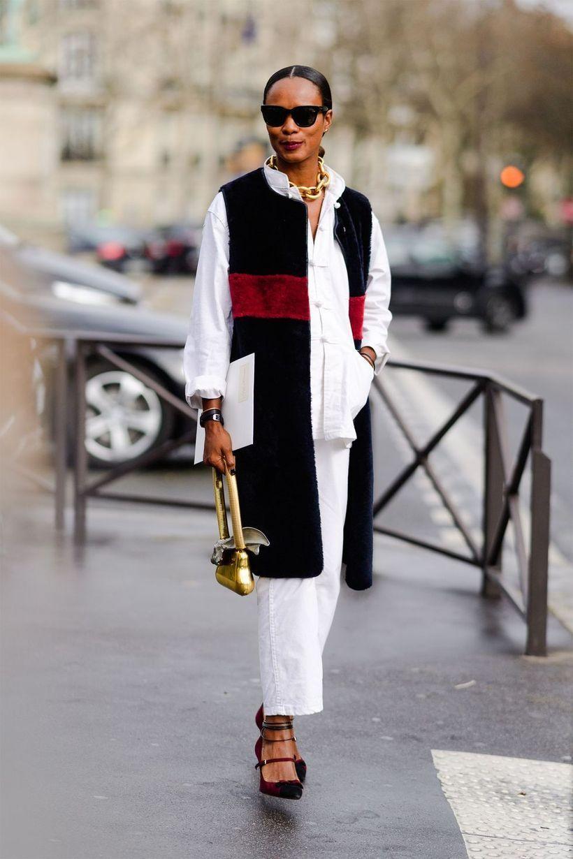 Long-white-shirt-and-black-velvet-outer
