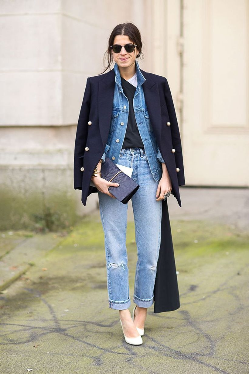Denim-jacket-and-black-blazer