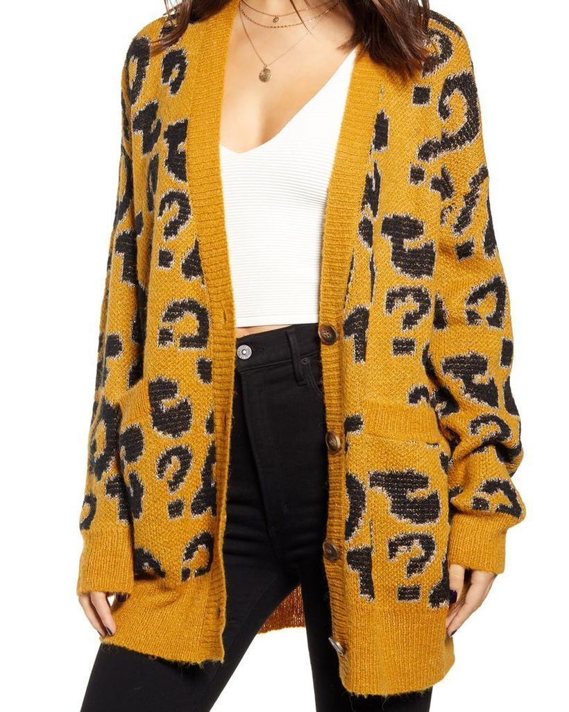 Yellow-knit-cardigan