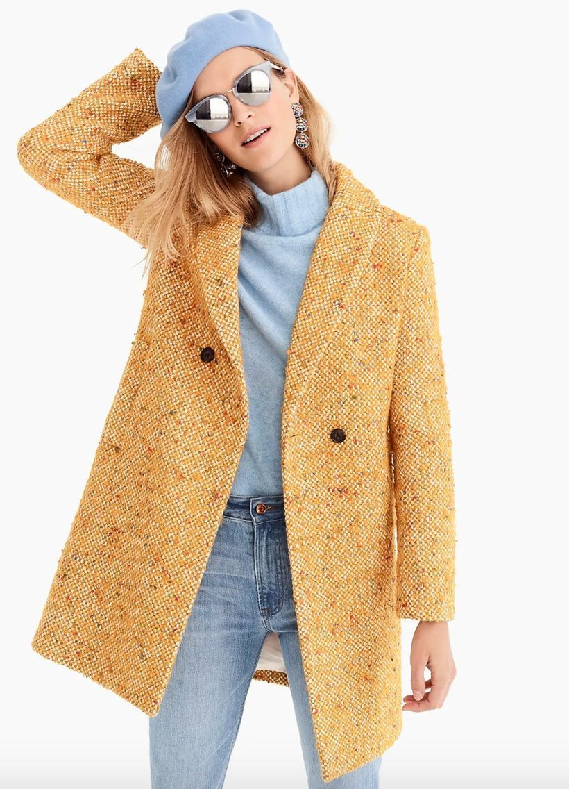 This-thick-beige-overcoat-from-tweed-combined-with-a-blue-sweater-is-perfect-for-your-style-this-season-because-it-can-warm-you-up-and-be-stylish