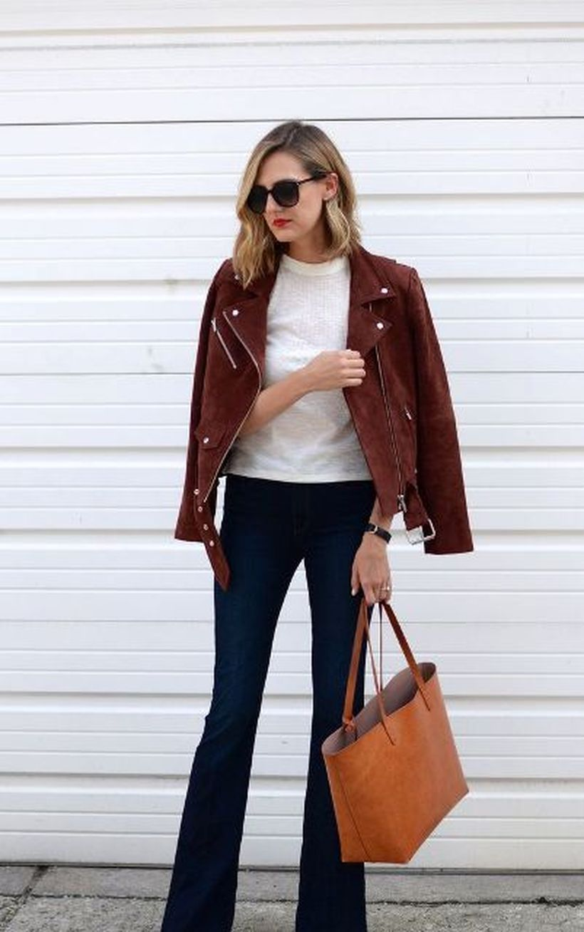 Red-suede-jacket-and-white-knit-t-shirt