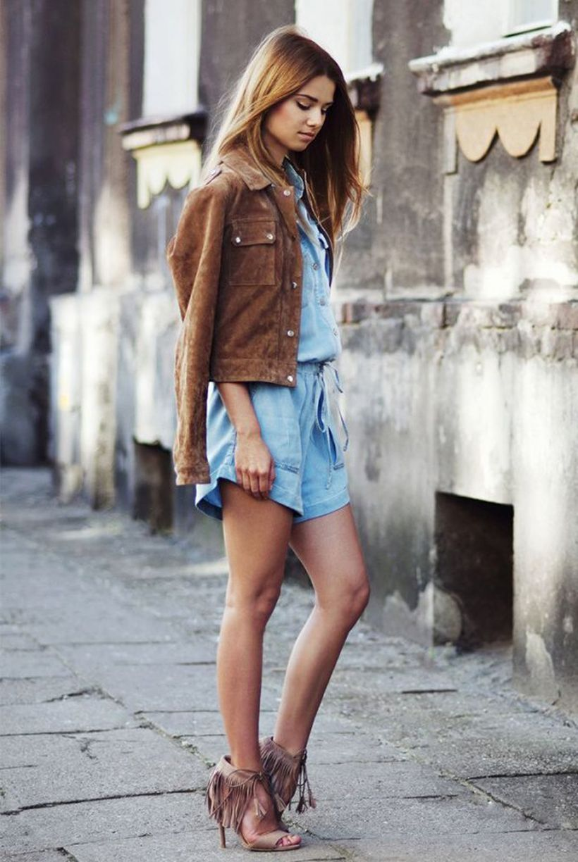 Best-brown-jacket-suede-and-mini-short