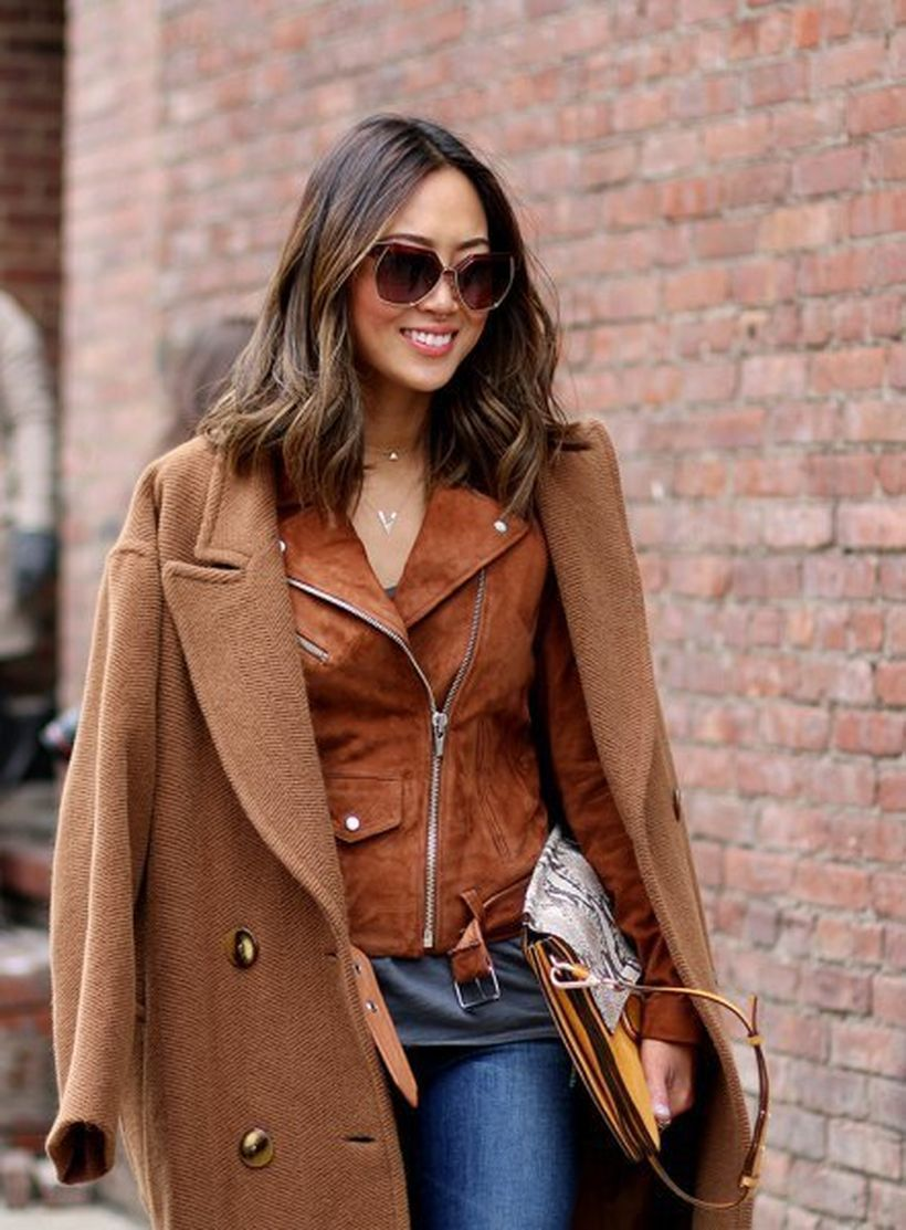 Overcoat-and-brown-suede-jacket