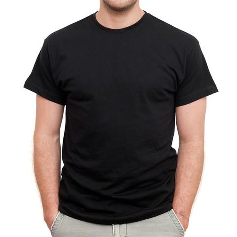 Black plain t- shirt for men to look cool