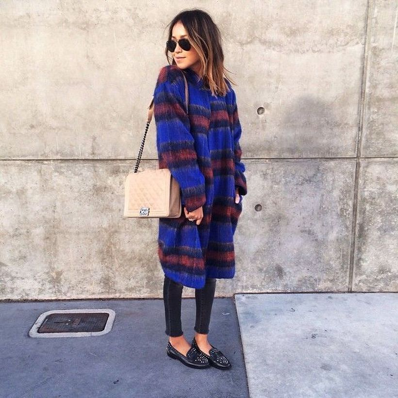 Awesome long blue coat ideas