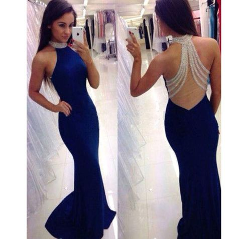Royal blue is a perfect color for mermaid prom dresses!