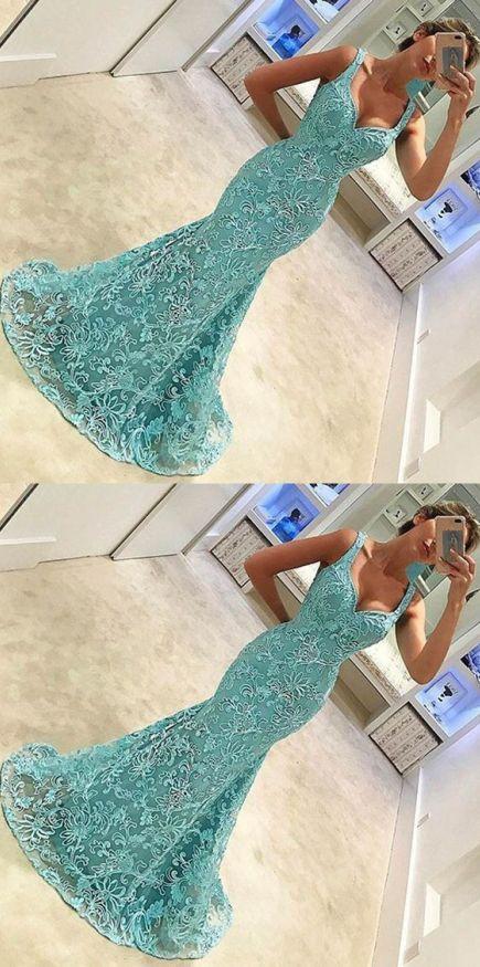 Aqua is an amazing color for mermaid prom dresses!