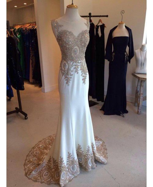 Silver and gold are perfect colors for mermaid prom dresses!