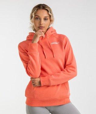 Gymshark Crest Hoodie - Peach Coral 4