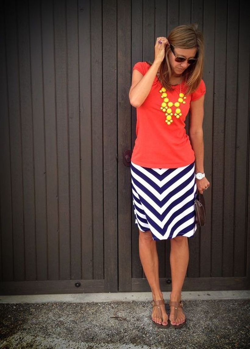 Colored-top-with-striped-skirt.