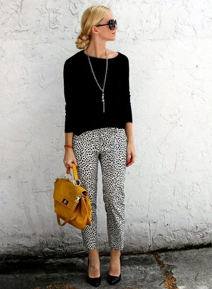 Patterned-pants-with-black-top.