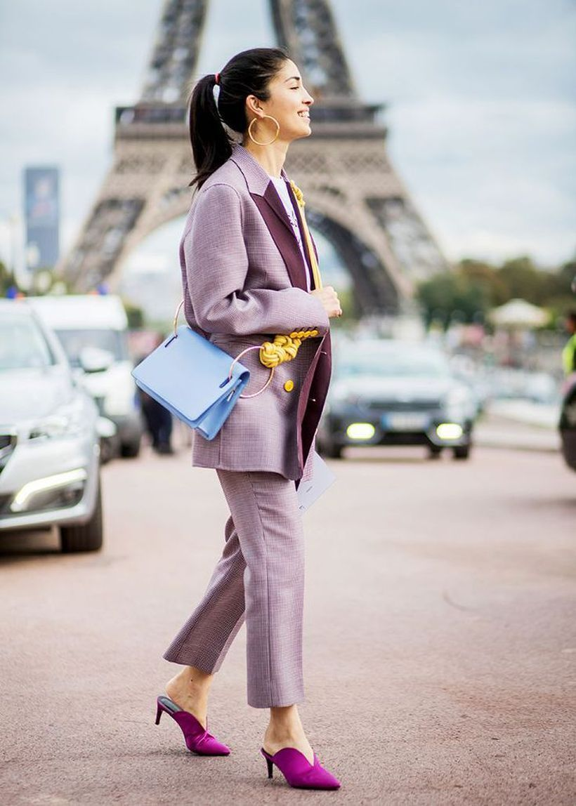 Purple-pantsuit-and-statement-shoes.
