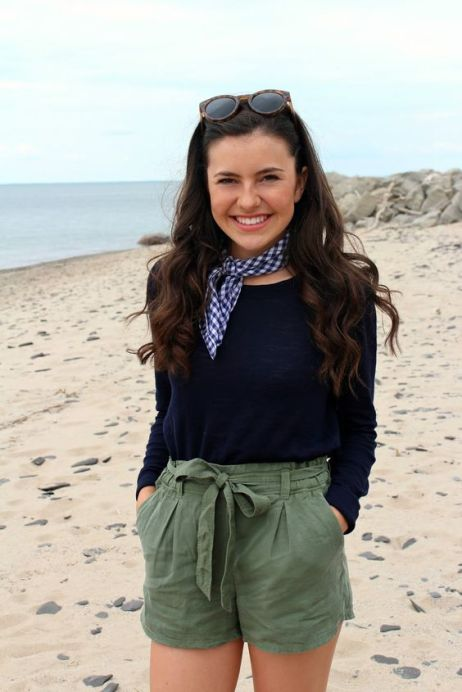 A summer neckerchief is perfect for a preppy outfit!