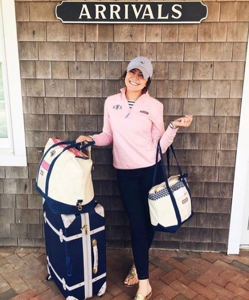A monogrammed pullover is perfect for a preppy outfit!