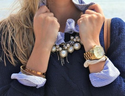 Jewelry is a perfect addition to any preppy outfit!