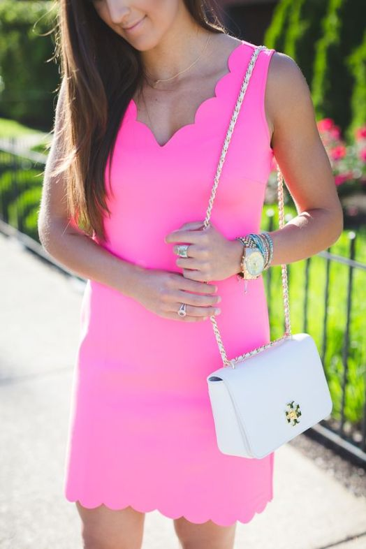 Scalloped edges are perfect for a preppy outfit!