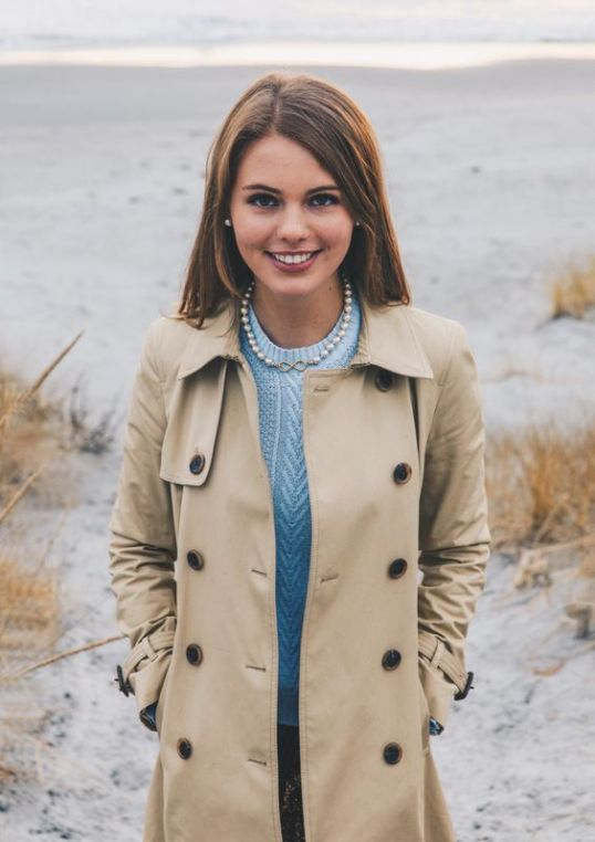 A trenchcoat is perfect for a preppy outfit!