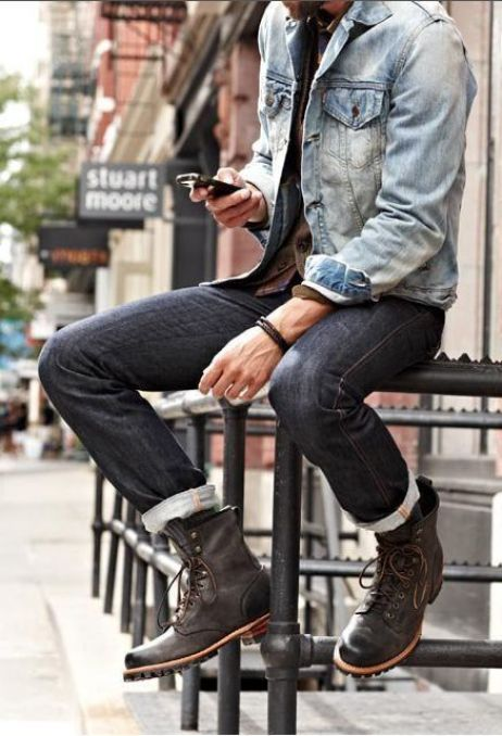 street-style-men-shoes-rolled-up-jeans: