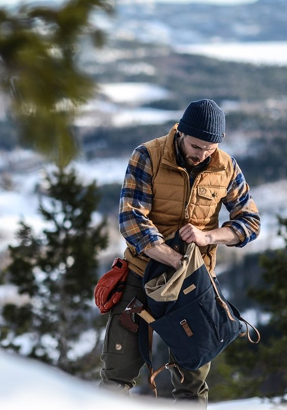 Outdoorsy men's athletic outfits are the best!