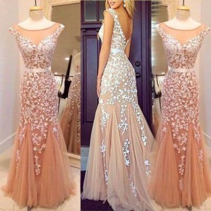 The belted look is perfect for mermaid prom dresses!