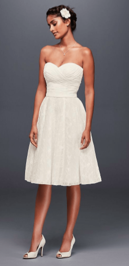 *12 Short Wedding Dresses For You To Walk Down The Aisle In
