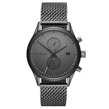 Voyager Monochrome Mesh Watch by MVMT