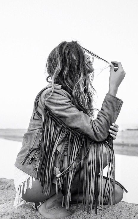 Fringe is great to have in your bohemian style wardrobe!
