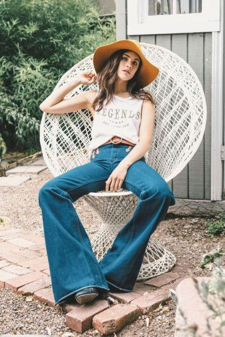 Denim pieces are great to have in your bohemian style wardrobe!